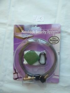 Notebook Security System Key Mechanism Lock Laptop Theft Prevention Security