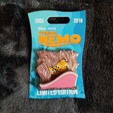 Disney Parks Finding Nemo Pin Nemo Marlin Anemone LE 2000 15th Anniversary