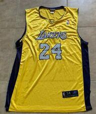 Kobe Bryant 24 Reebok Yellow w/ Purple Adult Stitched Jersey LA Lakers 54 XL