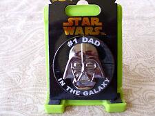 Disney Star Wars * DARTH VADER * #1 DAD IN THE GALAXY * New on Card Trading Pin