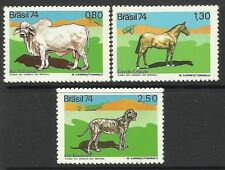BRAZIL. 1974. Domestic Animals Set. SG: 1517/19. Unused.