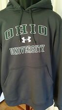UNDER ARMOUR OHIO UNIVERSITY HOODIE SWEATSHIRT MEN'S M GRAY SOLID POLYESTER