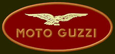 "MOTO GUZZI EMBROIDERED PATCH ~4-3/4"" x 2"" MOTORCYCLE V2 PARCHE BORDADO AUFNÄHER"