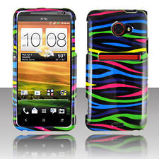 For HTC EVO 4G LTE HARD Protector Case Snap On Phone Cover Colorful Zebra