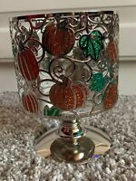 bath and body works Sparkly Pumpkins 3 Wick Candle Holder