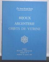 1975 Catálogo De Venta Hotel Drouot Baño N º 7 Bisutería Plata Artículo Vitrina