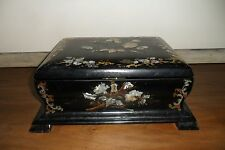 Large Antique Victorian Papier Mache & Mother of Pearl Jewellery Box  A/F