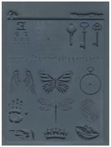 Lisa Pavelka Texture Stamp Mold Sheet Surface Imprinting Wings & Things Innie