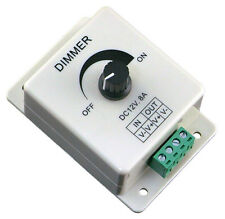 12V 8A Led Light Protect Strip Terminals Dimmer Adjustable Brightness Controller