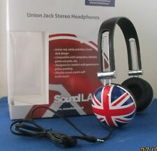 UNION JACK IPOD PHONE MP3 LAPTOP MP4 CD DVD PODCAST MUSIC SOUND STEREO HEADPHONE