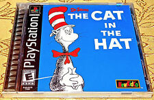 Dr. Seuss The Cat in the Hat Playstation PS1 SYSTEM GAME Black Label NEW Sealed