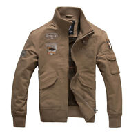 New Men's Military Style Slim Fit Zip Army Jacket Air Force jacket ATN195