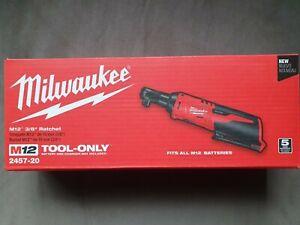"Milwaukee 2457-20 M12 12V 3/8"" Drive Cordless Ratchet - Tool Only - NIB"
