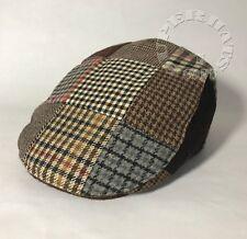 5a1a046e3da Men s Cabbie Newsboy Ascot Wool Flat Ivy Multi Patch Plaid Snap Brim Cap Hat