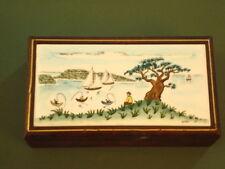 Beautiful Tiled Cedar lined wooden box~Tile is signed and dated 1951