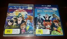 *New & Sealed* Hotel Transylvania 1 & 2 3D (Blu Ray 2D + 3D + UV) Region B AUS