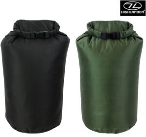 Highlander Dry Sack Pouch Waterproof Pack Camping Bag Green Black Large 140L New