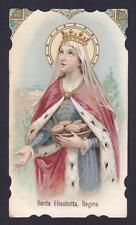 SANTA ELISABETTA D'UNGHERIA 02 SANTINO HOLY CARD IMAGE PIEUSE primi '900