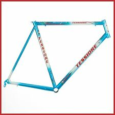 "NOS TESSIORE STEEL MACH 1 ULTRALIGHT FRAME VINTAGE ROAD BIKE 90s BICYCLE 1"" ITA"
