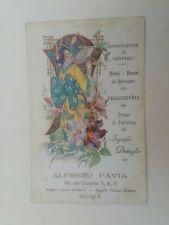 Cartolina Pubblicitaria Alfredo Pavia Ventagli China Japan Liberty arte donna