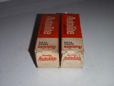 Lot Of 2 Autolite Spark Plugs Vintage AGR41 Resistor Spark Plug