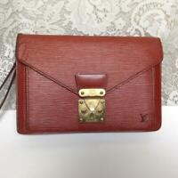 Authentic Louis Vuitton, Brown Epi Leather Unisex- Mens Clutch 10in x 7in x 3in