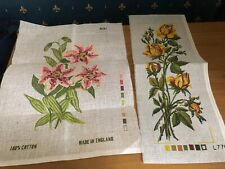 Set of 2 Floral Tapestry Canvases