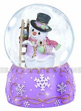 Precious Moments MUSICAL SNOWMAN WATER GLOBE 131105 Snowglobe Vivaldi's Winter