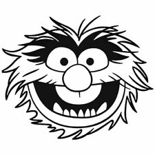 Animal Muppets Car Sticker Funny Window Vinyl Decal Motorbike Fairings Panniers