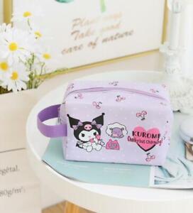 Kuromi rabbit purple PU Makeup Bag Cosmetic handbag wallet storage cartoon
