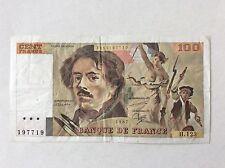 Billet français 100 F Delacroix  1987 H123 Voir Photo