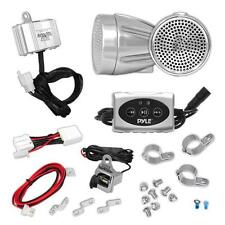 "New PLMCA62BT 600W 2.25"" Bluetooth Motorcycle Speakers Kit + AMP iPod/MP3 Player"