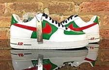 "Nike Air Force 1 Premium ""MEXICO""  WHITE/SPORT RED-PINE GREEN Size:11"