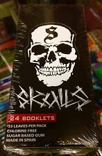 Skulls - Skull Printed Cigarette Rolling Papers Full Box Sealed RARE OOP L@@K