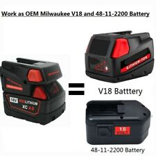 18V Converter with Milwaukee M18 Battery Replace V18 or 18V NI-CD Tool Battery