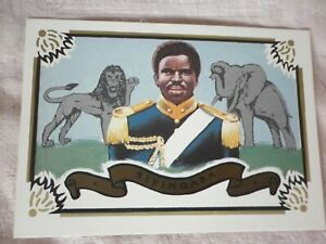 SWAZILAND  PHQ CARD No,1 Diamond Jubilee of HM Sobhuza 2  Mint