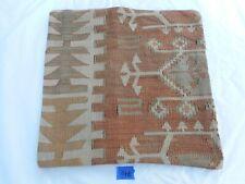 "Unique  Kilim Pillow Cover 16x16"" Case from Kilim Rug Hidden Zipper Amazing Work"