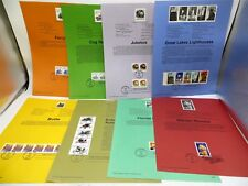 Lot of USPS Commemorative Stamps First Day of Issues on 8 Sheets From 1995