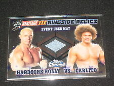 Hardcore Holly & Carlito Topps Heritage Wwe Wwf Certified Ringside Relics Card