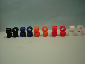 10PR SILICONE COLOR TIRE LOT #15 FITS TYCO 440 440X2 LIFE LIKE SUPER-3 H.O.