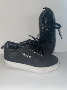 HEELYS Black White Roller Skate Shoes US YOUTH 1 UNISEX *Barely Used* Excellent!