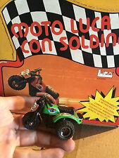 MOTO LUCA CON SOLDINO,VINTAGE ANNI '80 NUOVISSIME!!COL. VERDE