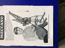 m9-4 ephemera 1958 advert meccano building a crane liverpool