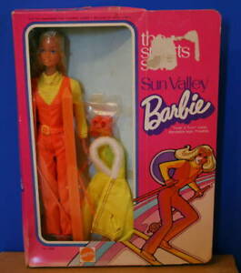 1973 SUN VALLEY BARBIE NRFB Rare 2nd issue Cardboard Box ! TAIWAN Malibu Vintage