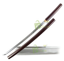 "40"" Rosewood Shirasaya Handmade Full tang Katana 1045 Carbon Steel Sword & Cert"