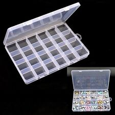 Organizer Jewelry Container Nail Art Tips Case Pill Bottle Empty Storage Box