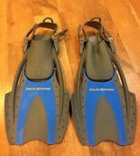 Us Divers Premium Molokai-Lx-Dry Silicone Kids Fins Childrens Shoe Size S/M 1-3