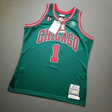 100% Authentic Derrick Rose Mitchell Ness 08 09 Bulls Jersey Size 36 S Mens