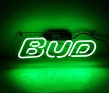 New Bud Neon Light Sign Lamp Beer Poster Pub Acrylic 14""
