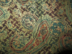 1 2/3 yds ANDOVER Quilt FABRICS Gold/Brown Large Paisley Print THE KESSLERS